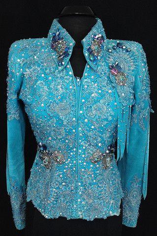 Turquoise Fringe ~ Jacket by Julie Ewing Designs