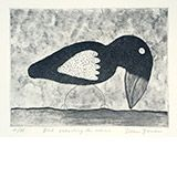 Bird Searching For Worms by Dean Bowen Available from www.cascadeprintrintroom.com.au. We ship worldwide. Laybys and gift vouchers available