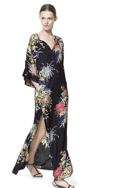 LONG PRINTED DRESS - Dresses - Woman - ZARA United States