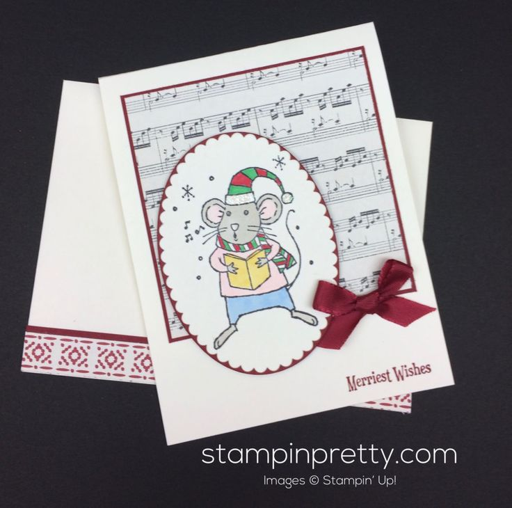 ORDER STAMPIN' UP! ON-LINE! A touch of whimsy for your holiday cards with Merry Mice stamp set. 1000+ card ideas & daily paper crafting tips