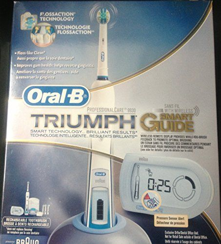 Braun Triumph Professional Care 9900 series (9900 - 9910 - 9930 - 9950) Power Toothbrush with Smart Guide Braun