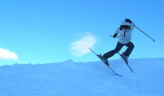 Yes it really is true: Snow and skiing in Africa.