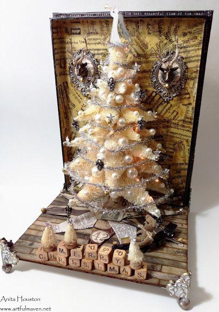 The Artful Maven Haven: Lighted Bottle Brush Mega Christmas Tree???