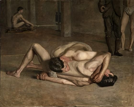Thomas Eakins, Wrestlers, 1899, Los Angeles County Museum of Art, gift of Cecile C. Bartman and The Cecile and Fred Bartman Foundation