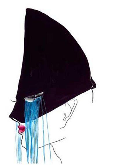 Illustration by Tony Viramontes, 1984, Jean Paul Gaultier. © Tony Viramontes