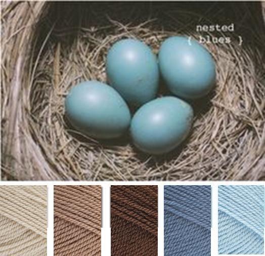 Parchment, Mocha, Walnut, Denim, Cloud (Stylecraft Special DK Yarn Colour Pallette)