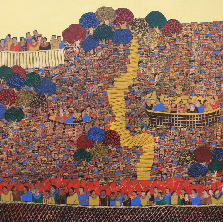 An array of mosaic paintings by artist V Rama Krishna arrests the eye creating a sensuousness that lingers on, inviting the mind's eye to revisit the generosity of multiple colours. The category of work is certainly abstract, leaving no clue for the spectator to gauge the source of inspiration that compelled the artist to paint what he paints.