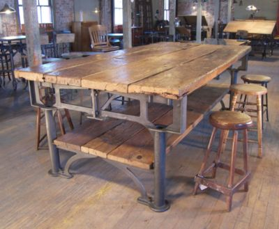 cool industrial furniture. this industrial table would be very cool in new house furniture r