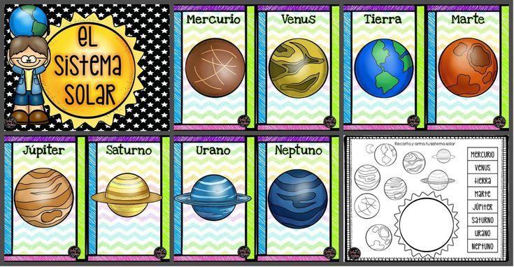 Nuestro Sistema Solar: EL SISTEMA SOLAR:El Sistema Solar está formado por la Tierra y otros siete planetas que giran alrededor del Sol.Planetas del Sistema Solar: MERCURIO, VENUS, TIERRA, MARTE, JÚPITER, SATURNO, URANO Y NEPTUNO....