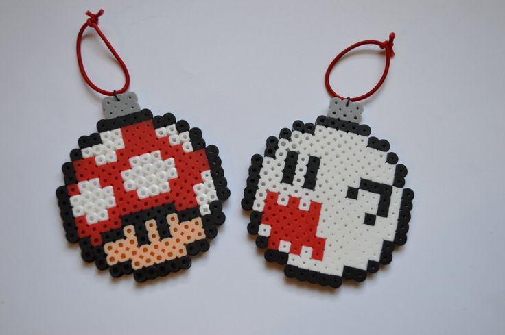 Super mario Perler Christmas Ornaments by ZombieLoan