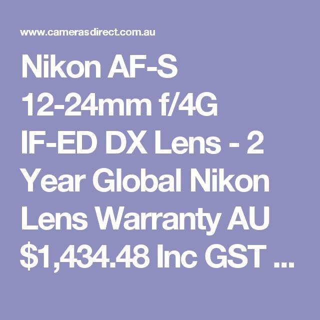 Nikon AF-S 12-24mm f/4G IF-ED DX Lens - 2 Year Global Nikon Lens Warranty  AU $1,434.48 Inc GST RRP: $1,599.00 Save: $164.52