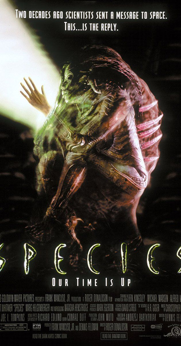 Directed by Roger Donaldson.  With Natasha Henstridge, Michael Madsen, Ben Kingsley, Alfred Molina. A group of scientists try to track down and trap a killer alien seductress before she successfully mates with a human.