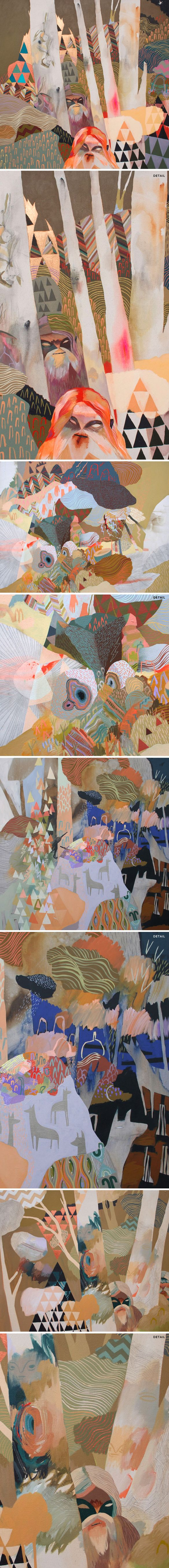 """""""Giants"""" a series by Meghan Hildebrand (acrylic on canvas)"""