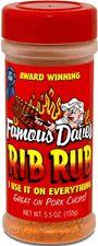Famous Daves Seasoning, Rib Rub 5.5 oz Gluten Free