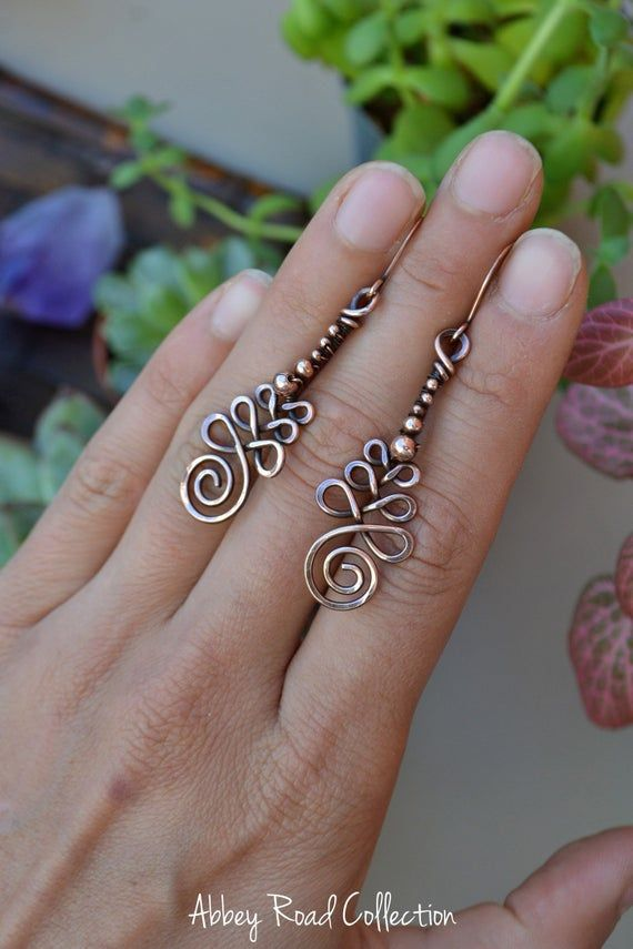 🌙Beaded Copper Unalome Earring// Made to Order (2-3 days)🌙 *Please Read Details Below* These magical earrings feature the Buddhist unalome symbol, hand forged from copper wire and accented with pure copper beads. The unalome symbol is said to represent the twists and turns we take in life before we