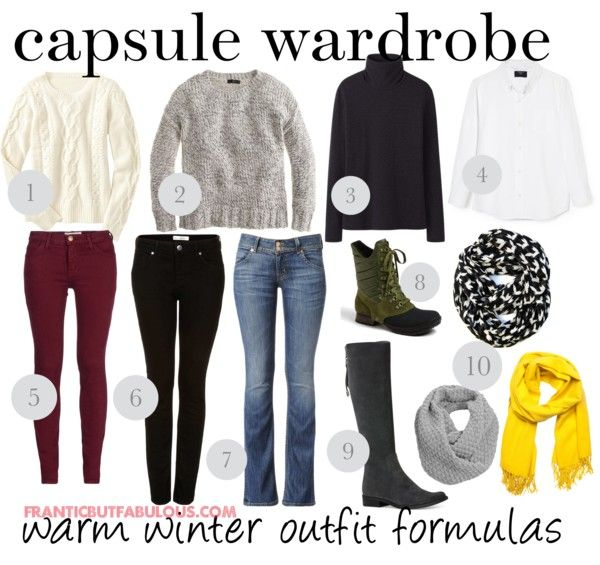 Capsule wardrobe: Warm winter outfit formulas - Working mom style advice: Frantic But Fabulous