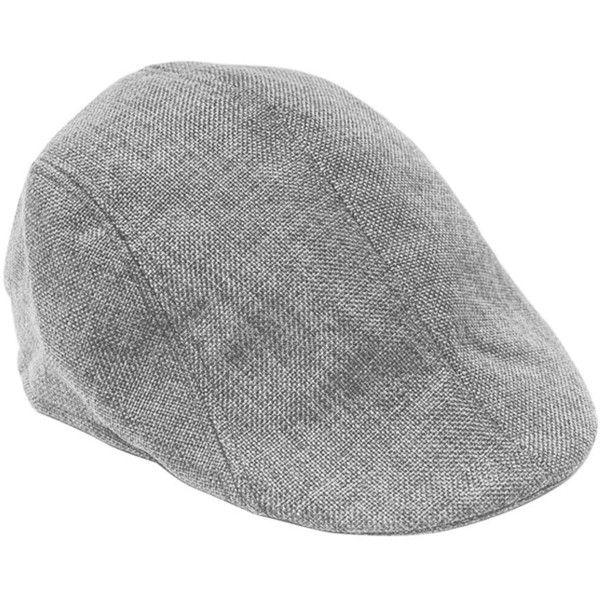 FUNOC Mens Vintage Herringbone Flat Cap Irish Driver Hat Newsboy ($7.68) ❤ liked on Polyvore featuring men's fashion, men's accessories, men's hats, mens drivers cap, vintage mens hats, mens flat caps and mens hats