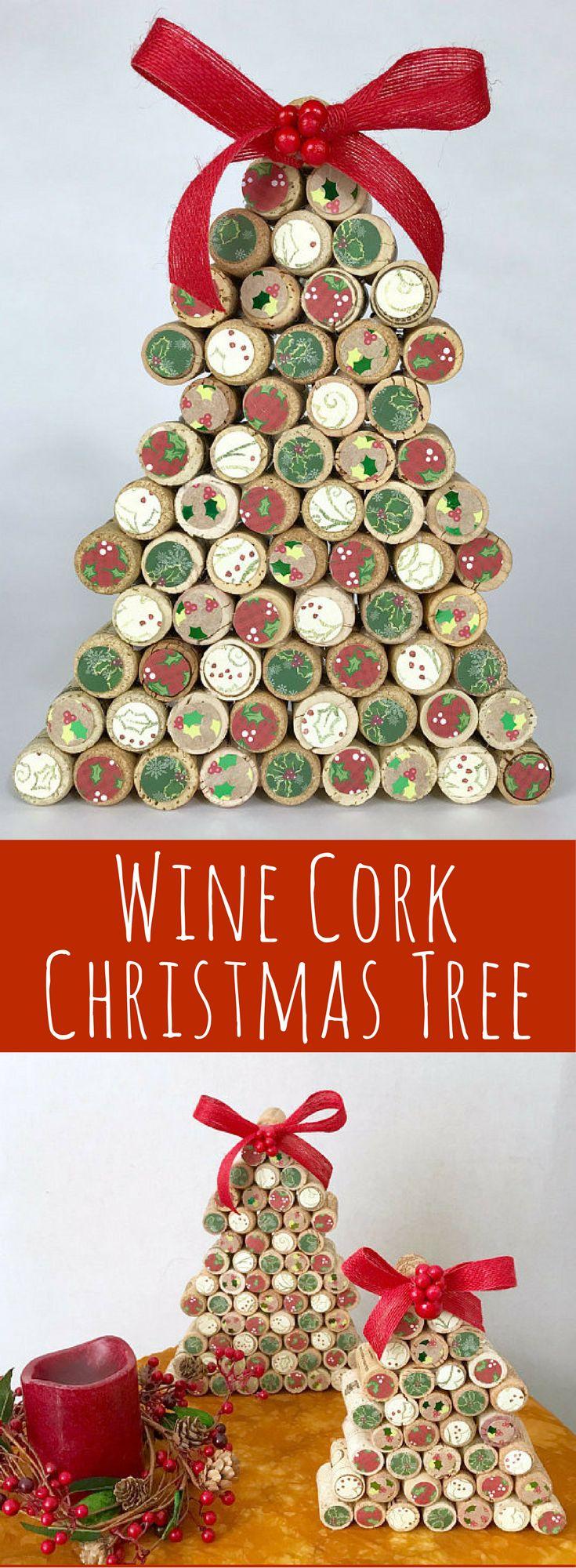 Wine Cork Christmas Tree Country Christmas Handmade Christmas Rustic Christmas Decor Wi Wine Cork Christmas Tree Rustic Christmas Tree Cool Christmas Trees