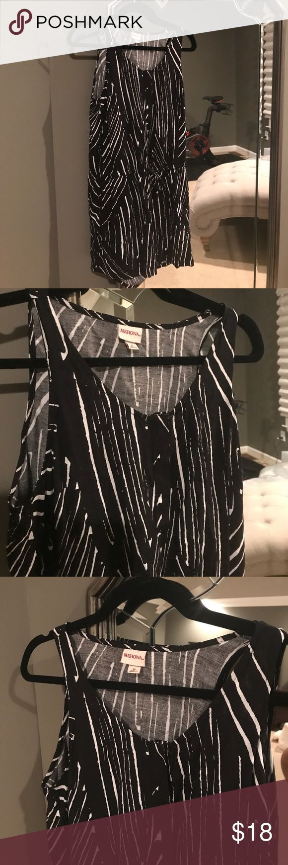 Target Romper new with tags Black and white design. Never been worn new with tags! Merona Other