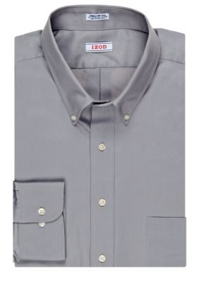 IZOD Slate Big  Tall Wrinkle-Free Dress Shirt