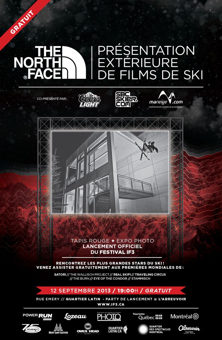 """As a tradition, iF3 Festival Montréal will start with the FREE """"THE NORTH FACE OUTDOOR SCREENING"""" ! ! !"""