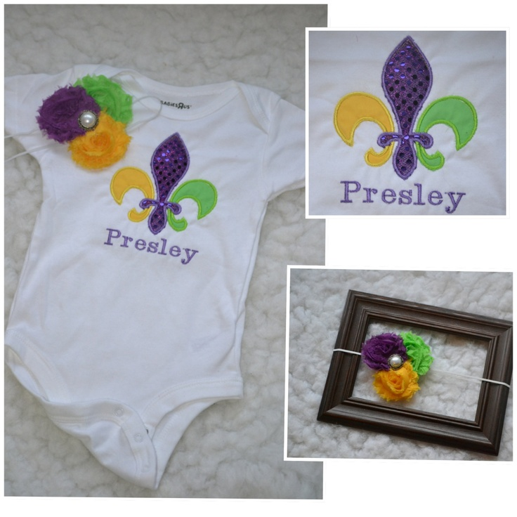 Baby Mardi Gra outfit by CustomCuteKids on Etsy, $33.00
