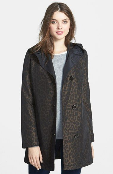 Gallery Animal Print Hooded Raincoat (Online Only) available at #Nordstrom