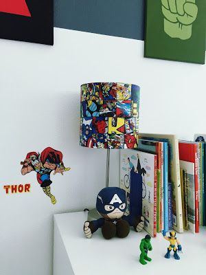 Avengers Themed Kidu0027s Bedroom Decor (With DIY Touches). DIY Decoupage  Avengers Comic