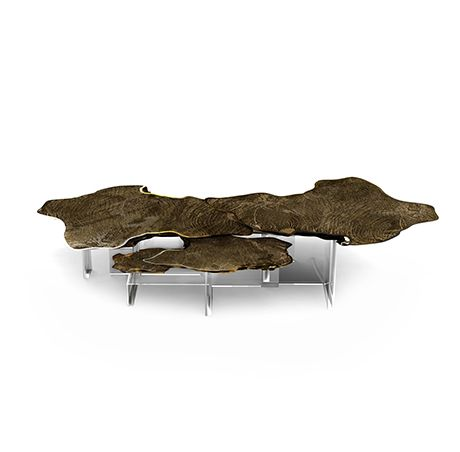 The Monet Patina center table is a unique and sophisticated furniture piece
