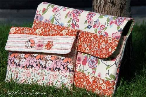 Instructions are included to make this bag in both iPad size and laptop size, along with a little math to help make a perfectly sized pouch for your favori