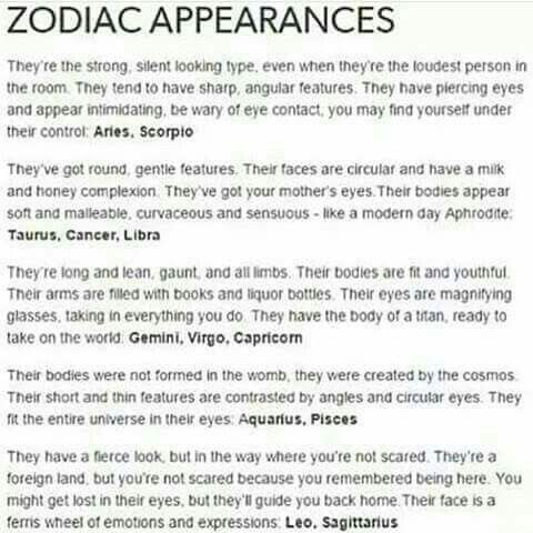 Zodiac Appearances   What's Your Sign?   Zodiac signs