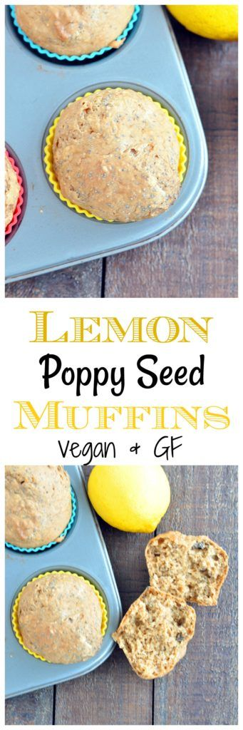 Light and fluffy lemon poppy seed muffins that your family will love. This recipe is oil free, vegan and gluten free! For lemon lovers!