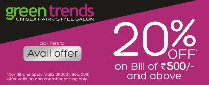 On #MatrimonyDay Green Trends brings you # 20% OFF on a bill of Rs. 500 and above.  http://bit.ly/MatrimonyDay