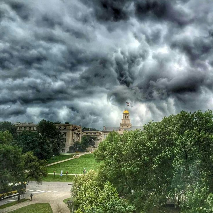 Wild weather at Iowa City, Iowa