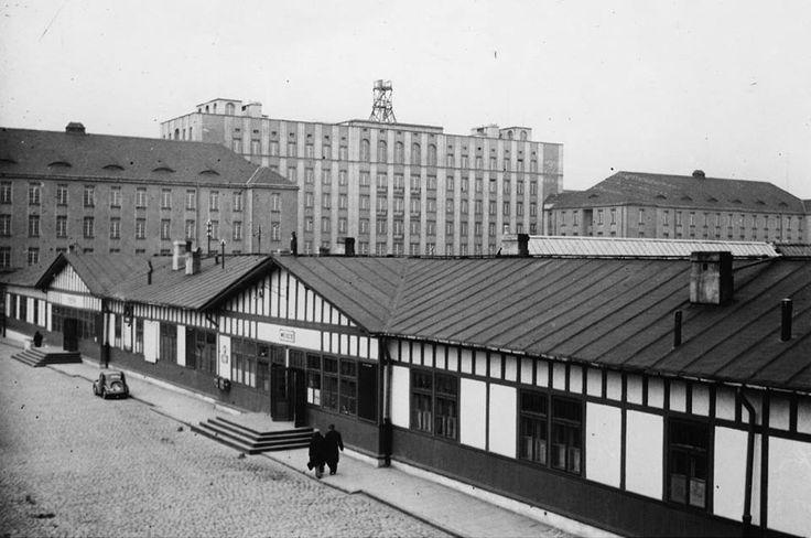 Dworzec Wileński.   fot. 1939r., źr. Narodowe Archiwum Cyfrowe.