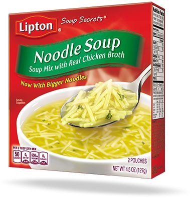 Our classic Lipton® Soup Secrets Noodle Soup, made with real chicken broth, is a great base to your hearty homemade soup recipe or even on its own!