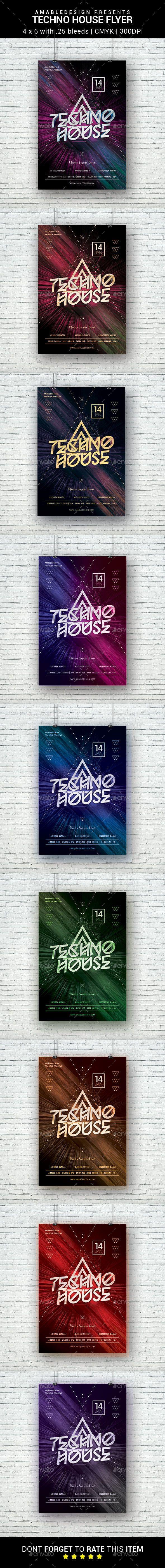 Techno House Flyer
