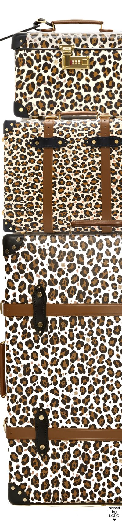 Charlotte Olympia x Globe-Trotter Leopard-Print Leather Luggage