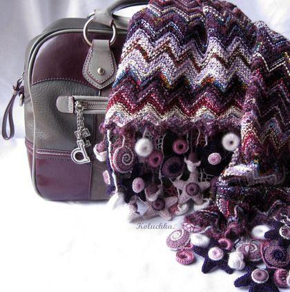 Шарфик - шарфик,цветной шарфик,koluchka,аксессуары,яркие вещи,шерсть,полушерсть
