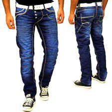 Jeans Homme Délavé Bleu Taille FR 36 38 40 42 44 US 29 30 31 32 33 34 - 8442-25