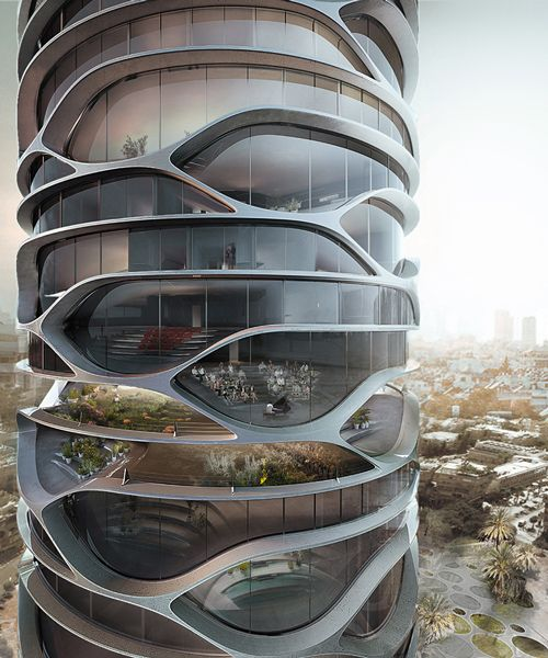 david tajchman conceives topological gran mediterraneo tower for tel aviv