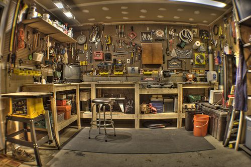 Man CaveMan Cave Garage, Garages Workbenches, Man Cavs, Dreams Garages, Shops, A Real Man, Man Caves Garages, Dreams Room, Garages Workshop