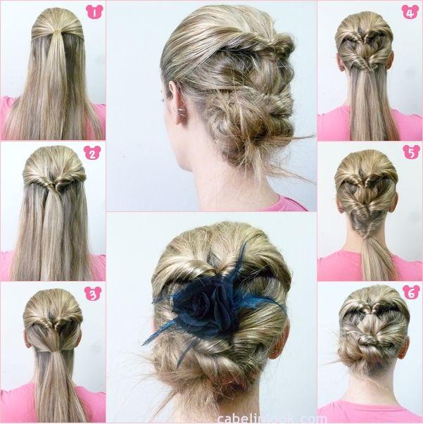 Recogido Paso A Paso Peinados Hair Pinterest