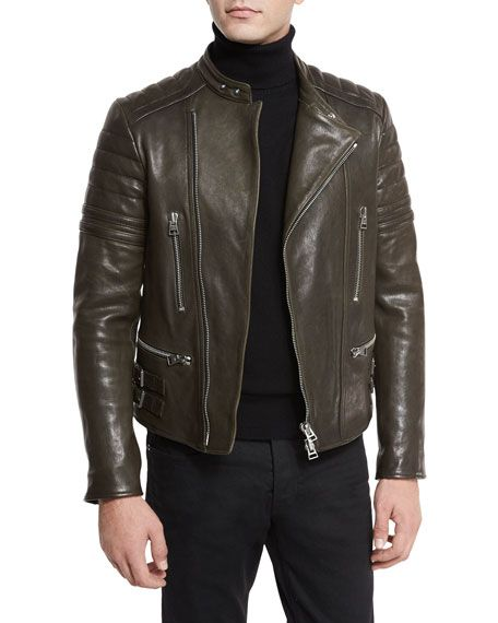 3df51e553e3 TOM FORD Icon Quilted Leather Biker Jacket