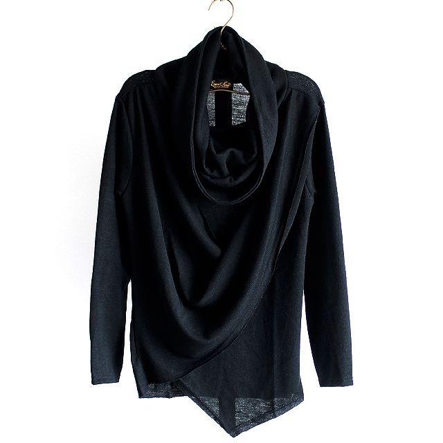 カシュクール風ドレープネック変形アシメカットソー | メンズスカートなどモード系ファッションの通販 albino