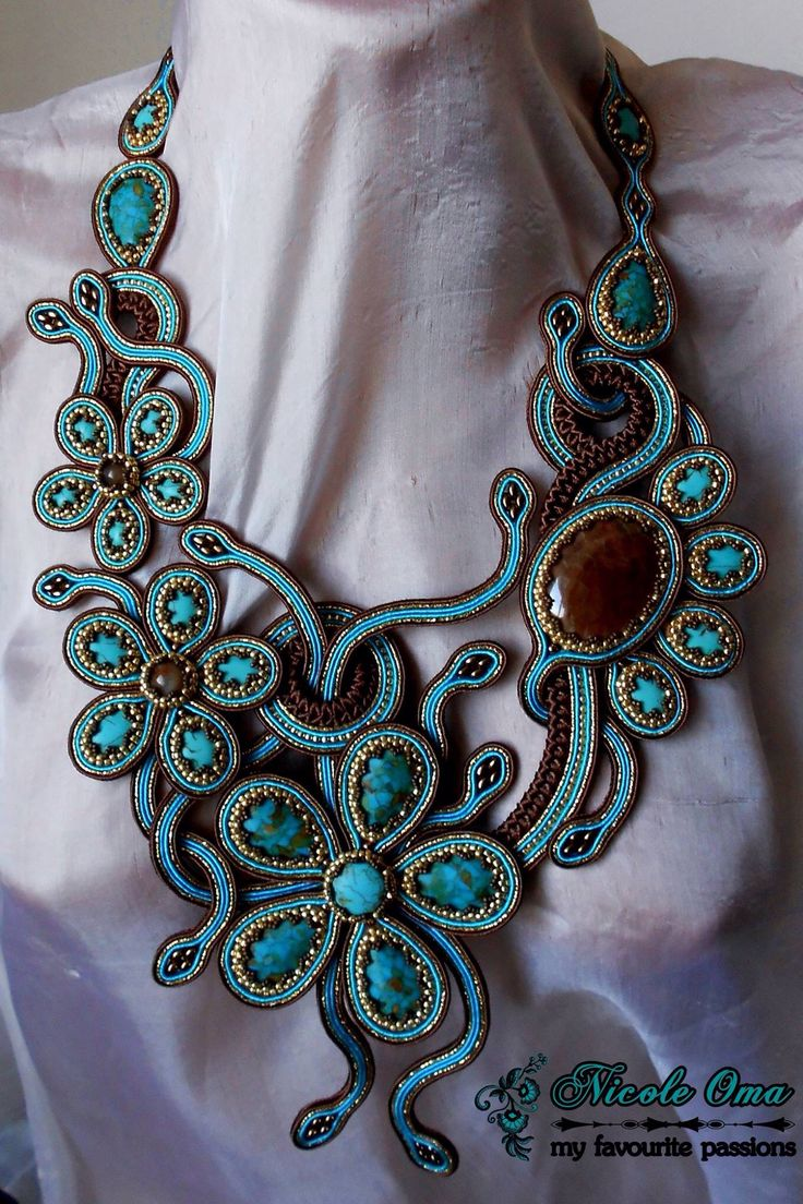 Beautiful soutache necklace