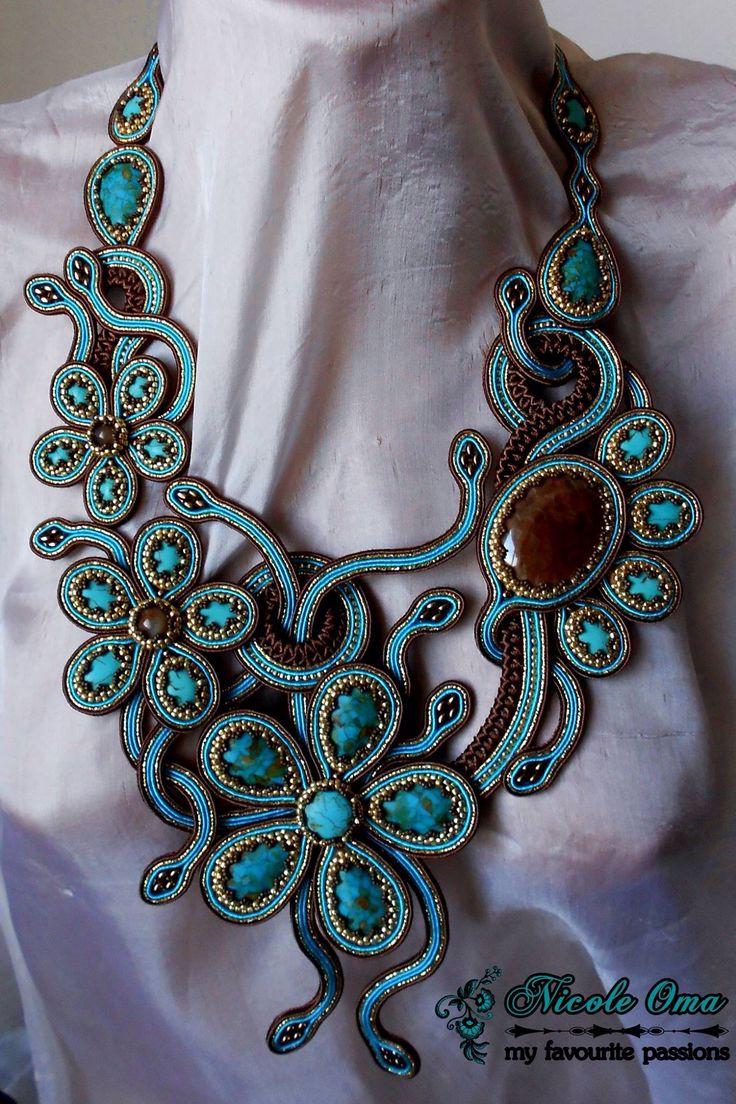 Beautiful soutache necklace