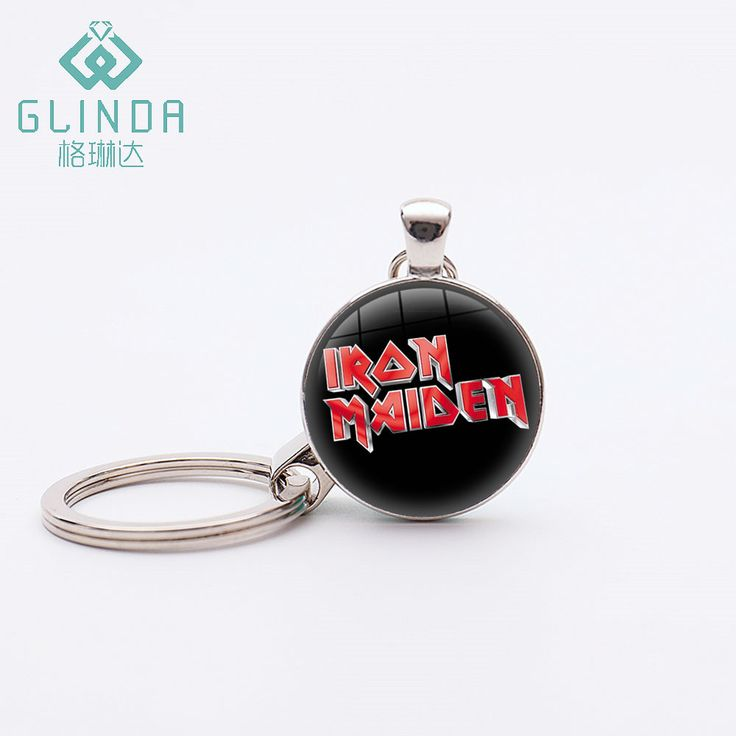 Glinda Iron Maiden Keychains Silver Plated Iron Maiden Music Key Rings Hipster A…