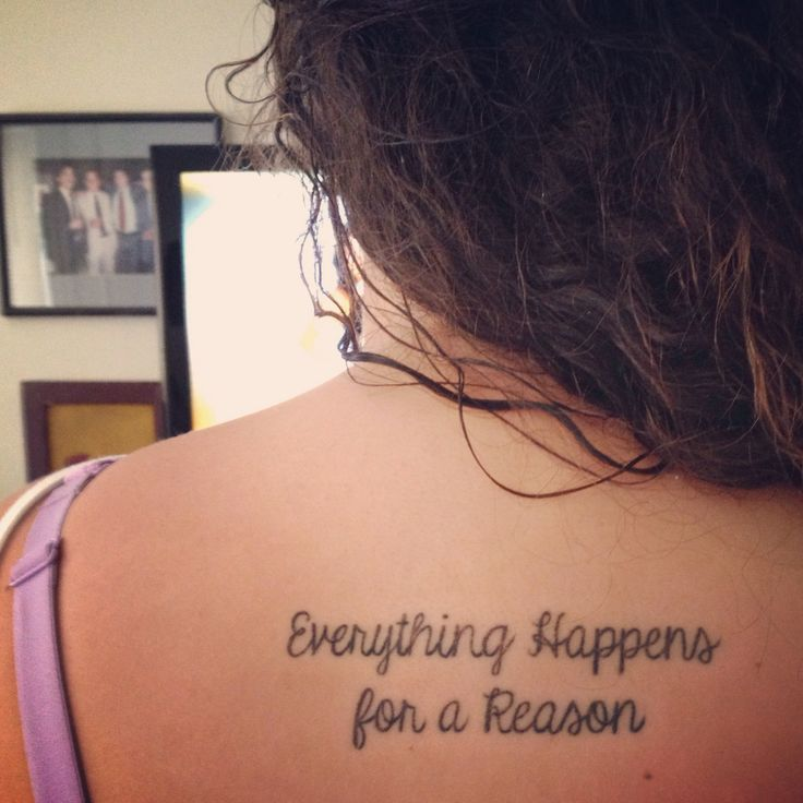 Everything Happens For A Reason... I Love This One, This