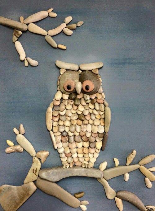 Beautiful a owl stone art